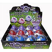 Alienz - Light Up Spider Spinning Top