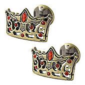 Thora Walton Siam Crown Antique Finish Crystal Cufflinks