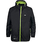 Trespass Mens Qikpac Waterproof Packaway Jacket - Black