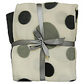 Cozy Time Twin Pack Fleece Blanket - 120cm x 150cm Grey Spotted
