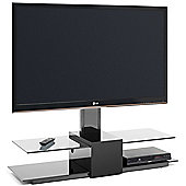 Techlink Latitude Black Canitlever TV Stand for up to 50 inch