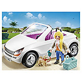 Playmobil Convertible Car With Woman