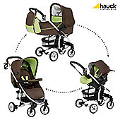Hauck London All-In-One Travel System, Coffee/Lime