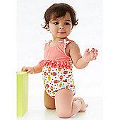 Splash About Girls Ruffle Kayla La Swimsuit - Coral