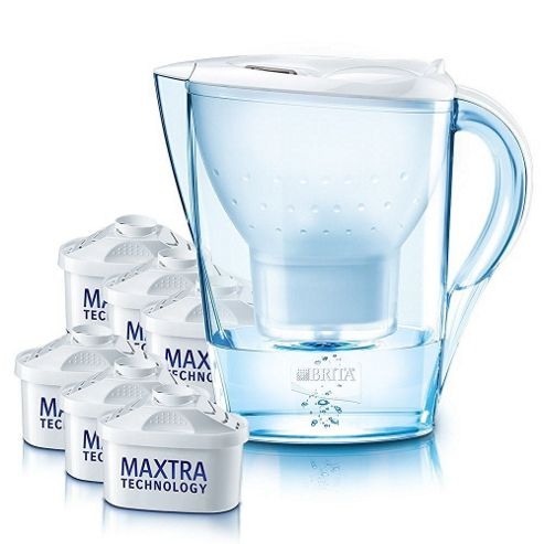 buy brita marella 2 4l cool white water jug with 6 month pack filters from our water filters. Black Bedroom Furniture Sets. Home Design Ideas