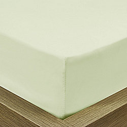 Julian Charles Percale Green Luxury 180 Thread Count Fitted Sheet - Single