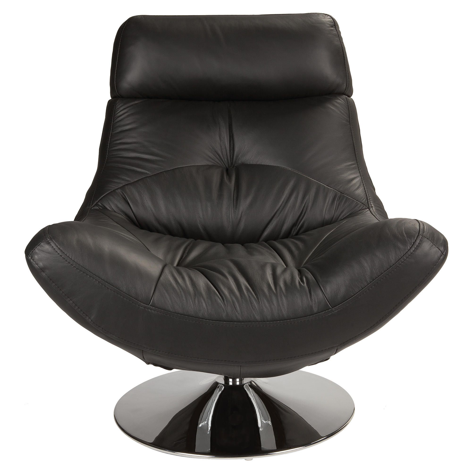 Swivel Leather Chair Black at Tescos Direct