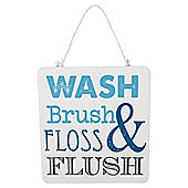 Tesco Wash & Brush Hanging Sign