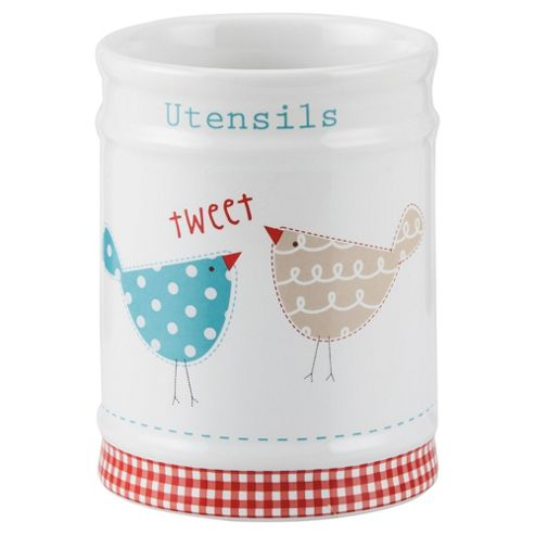 Tesco Tweet Utensil Canister