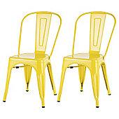 Marseille Metal Dining Chair Sulphur Yellow