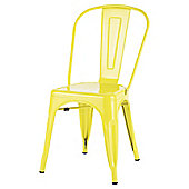 Marseille Metal Dining Chair Sulphur Yellow