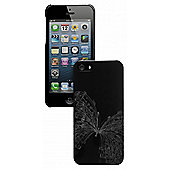 Trendz Case for iPhone 5 - Silver Butterfly