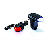Yellowstone Rechargable 3 LED Wind Up Bike Light Set