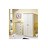 Welcome Furniture Warwick Plain Midi Wardrobe - Beech - 127cm H