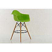 Eames DAW Bar Stools Green