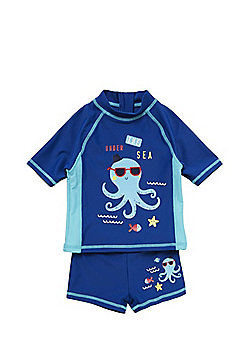 F&F Octopus Print Surf Suit - Blue