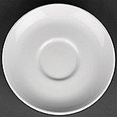 "Royal Porcelain Classic White Breakfast Saucer 160(Ø)mm (6 1/4""). White. X 12."