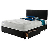 Silentnight Mirapocket 1200 Classic 4 Drawer Super King Divan Charcoal no Headboard