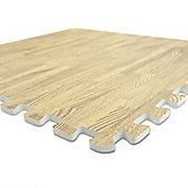 Bodymax Wood Effect Floor Protection Jigsaw Mats - Double Sided - 6pc