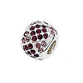 Amore & Baci Pave Crystal Bead - Tonal PINK