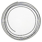 Tesco Atlanta White Porcelain Dinner Plate