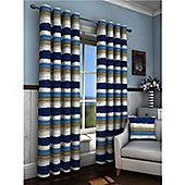 Truro Eyelet Curtains 117 x 183cm - Blue