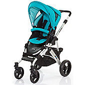 ABC Design Mamba Pushchair - Silver & Coral