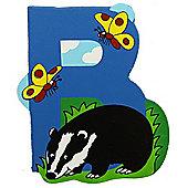 Bigjigs Toys BJL202 Wooden Magnetic Animal Letter Uppercase B (Designs Vary)