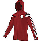 2014-15 AC Milan Adidas Anthem Jacket (Red) - Red