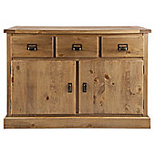 Portobello 3 Drawer 2 Door Sideboard, Rustic Pine