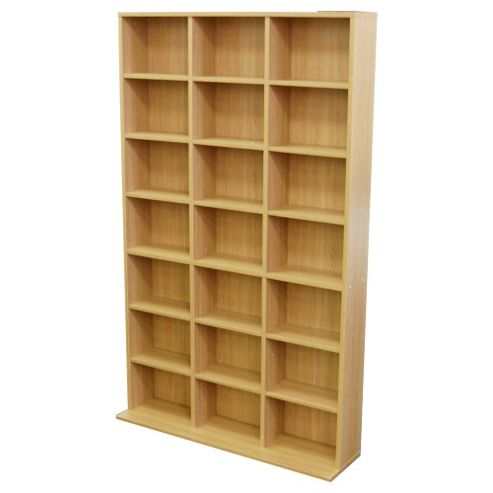 Techstyle 21 Cubby 588 CD / 378 DVD Media Storage Unit - Beech