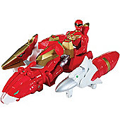 Power Rangers Megaforce Sky Brothers Zord Vehicle with Red Ranger