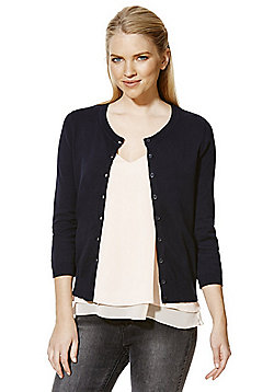 F&F Cardigan with As New Technology - Navy