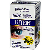 Natures Plus Ultra Lutein 20mg With Zeaxanthin 860 Mcg 60 Softgels