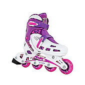 SFR Phantom Adjustable Inline Skates White/Pink Size 3-6