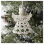 Tesco Crochet Angel Hanging Decoration