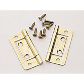 Basic P/P 2426 Flush Hinges Electro Brass 60mm X2