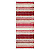 Swedy Malva Red / White Rug - Runner 60 cm x 200 cm (2 ft x 6 ft 7 in)