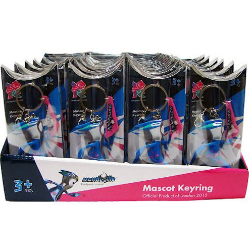 London 2012 Mandeville Paralympic Mascot - 32 Keyrings Value Pack