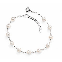 Sterling Silver Pearl Bead Bracelet