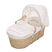 OBaby Hello Little One Moses Basket (Pink)