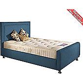 Valufurniture Calverton Bed Frame - Teal - Small Single 2ft6