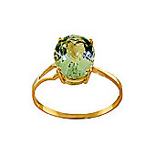 QP Jewellers 2.20ct Green Amethyst Marvel Ring in 14K Gold