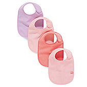 Mothercare Pink Bibs- 4 Pack