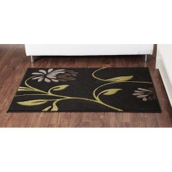 Ultimate Rug Co Rapello Orchid Black / Lime Contemporary Rug - 120cm x 165cm