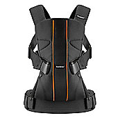BabyBjorn Baby Carrier One (Black/Orange Lines)