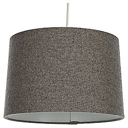 Tapered Drum Lamp Shade Woven Mocha