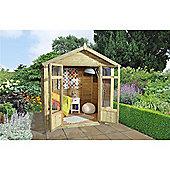 7ft x 5ft Tetbury Summerhouse - 7 x 5 Assembled Garden Wooden Summerhouse 7x5