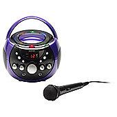 Goodmans XB9CDG Portable Karaoke System with Disco Lights
