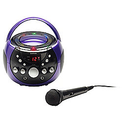 Goodmans XB9CDG Portable Karaoke System with Disco Lights